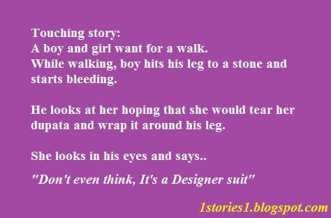 Funny Story, It's a designer suit