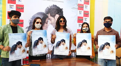 """TV-artists-Ankit-Gera-and-Ruchita-Sharma-starrer-poster-of-the-upcoming-romantic-song-""""Zara-Aur-Pass""""-launched."""