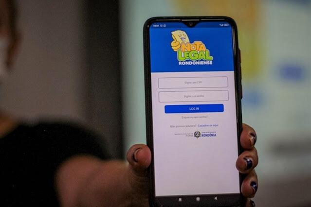 Aplicativo Nota Legal Rondoniense é lançado pelo Governo; contribuintes concorrem a prêmios de até R$ 20 mil