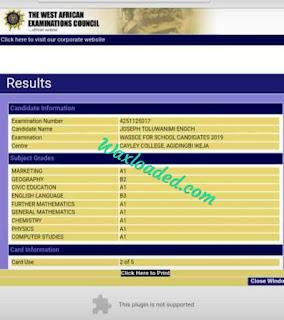 Check WAEC Result online 2019
