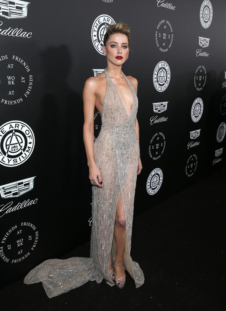 Amber Heard in Sexy Dress