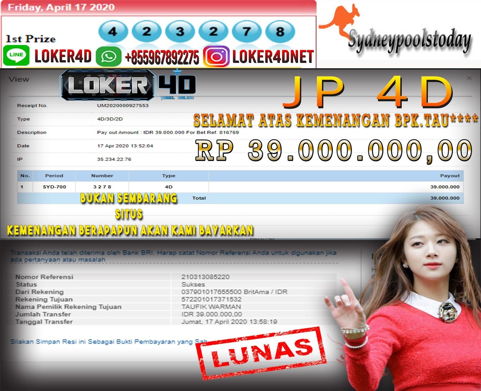SYDNEY BAGI BAGI JP LHO JP HINGGA 39 JUTA WOW!!!