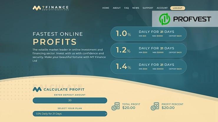M7 Finance обзор и отзывы HYIP-проекта