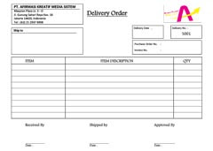 Cetak Delivery Order