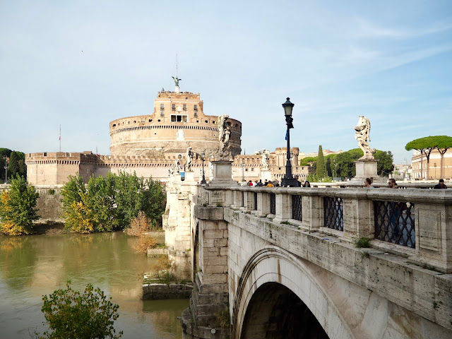 Castel and Ponte Sant'Angelo, Rome, Italy