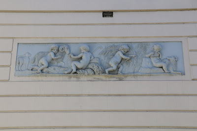 Coade stone relief, Norwegian embassy, London