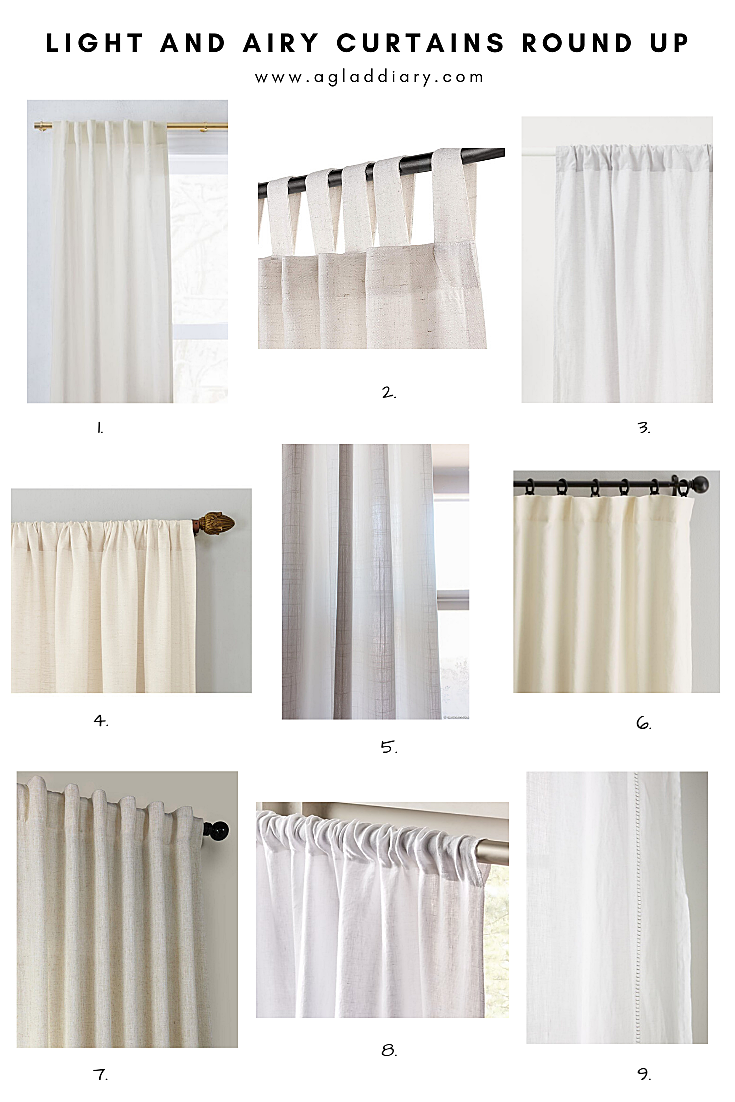 Light And Airy Curtains Round Up