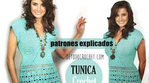 Patrones de Túnica Crochet con Explicación en Español ✔️