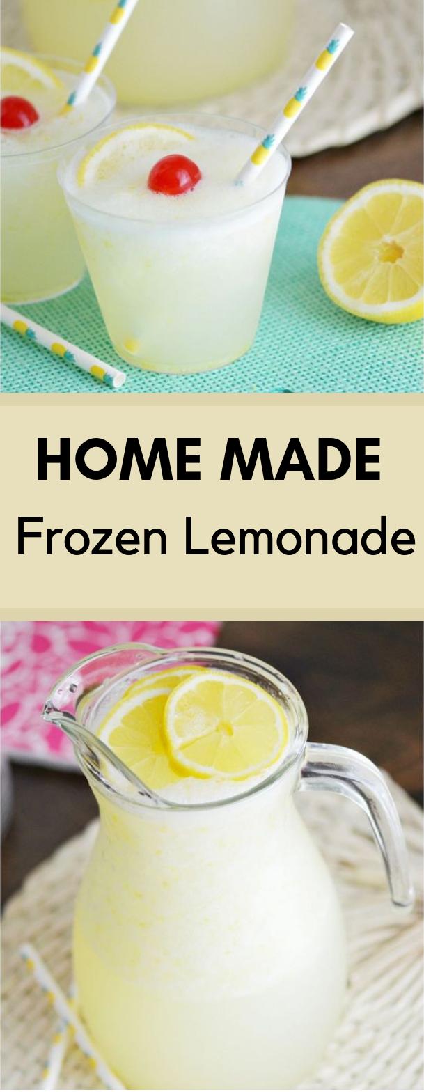 Homemade Frozen Lemonade #drink #Fresh drinks