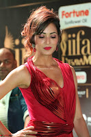 Videesha in Spicy Floor Length Red Sleeveless Gown at IIFA Utsavam Awards 2017  Day 2  Exclusive 10.JPG