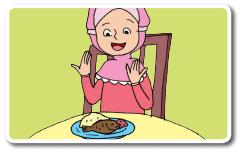 situ sedang berdoa sebelum makan atau minum www.jokowidodo-marufamin.com