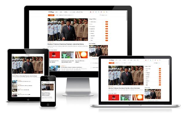 10 Magz Premium Blogger Template