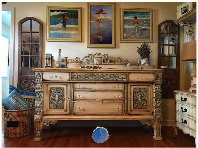 ornate dresser makeover