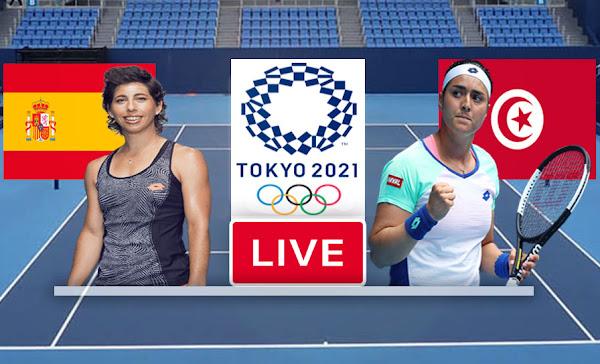 Watch Match Tennis Ons Jabeur vs Carla Suárez Navarro  Live Stream In Olympic Games Tokyo 2020