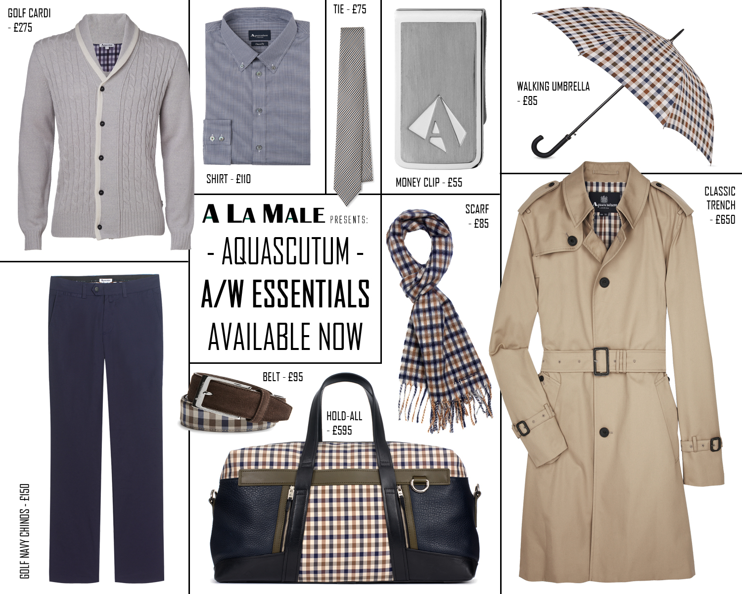 Aquascutum And Golf Aw12 Essentials A La Male