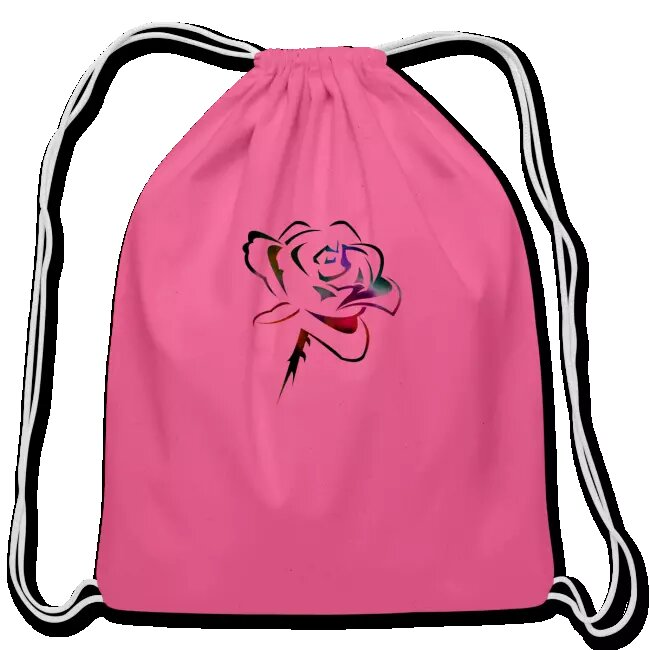 Custom Design With Rose In The Beautiful Drawstring Bag For Women