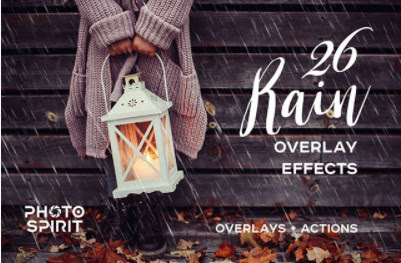 Backgrounds & Overlays – Creative Market – Rain Overlay Effects – 1834482 [JPG, ATN]