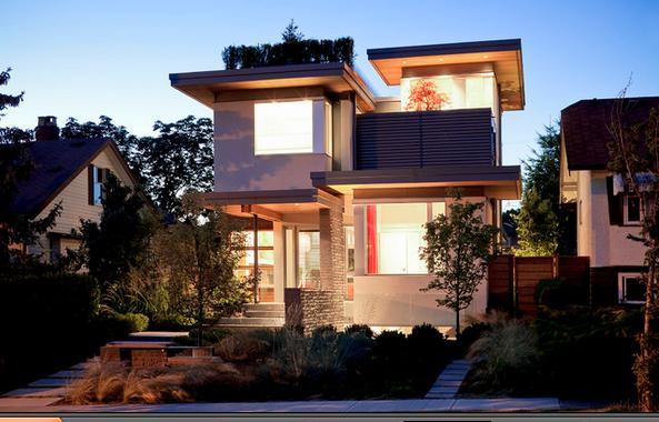 Fachadas casas modernas fachadas de casas peque as de dos for Fachadas modernas para casas pequenas de dos plantas