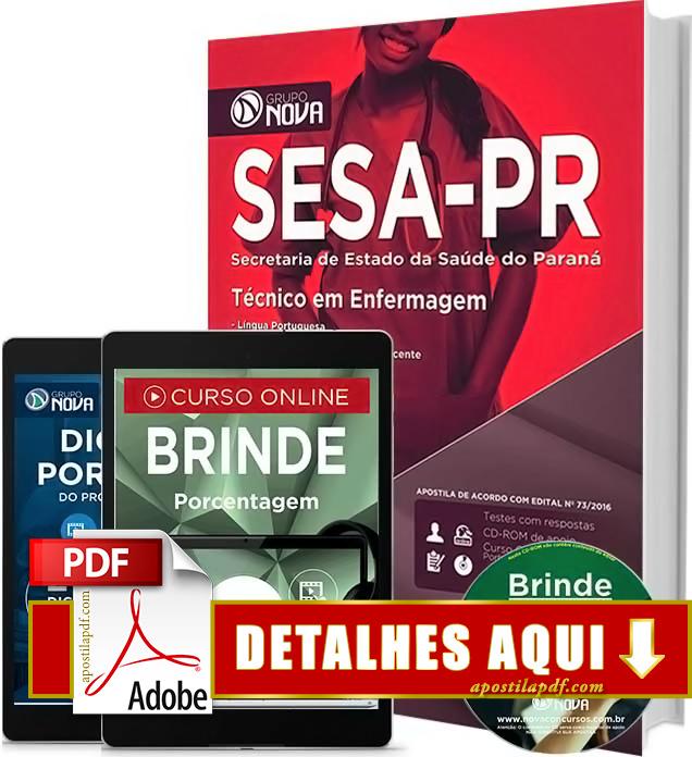 Apostila SESA PR 2016 Técnico de Enfermagem Impressa