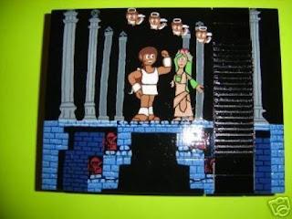 Consola de video juego personalizada pintada a mano