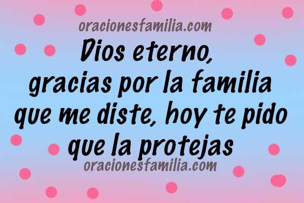 imagen con oracion cristiana de gracias por la familia