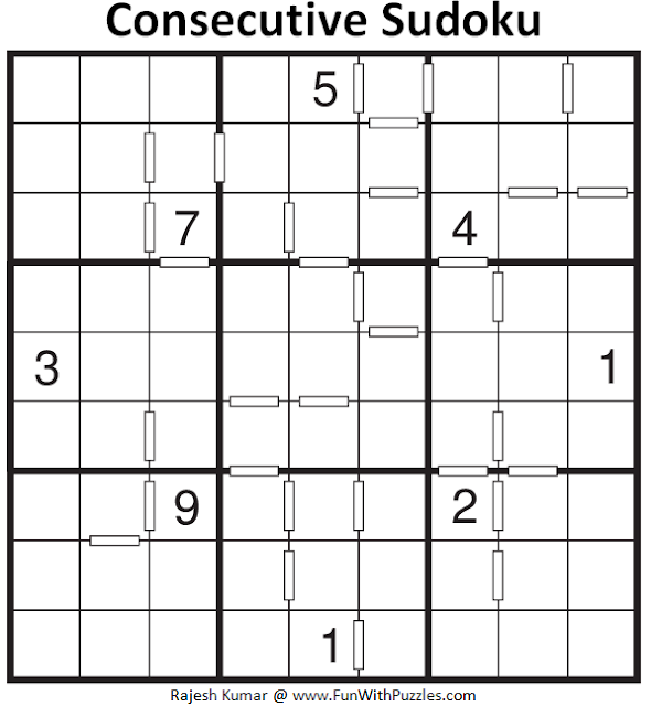Consecutive Sudoku (Fun With Sudoku #108)