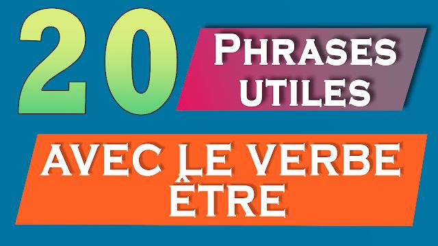 Plus 10 phrases avec le verbe être au présent