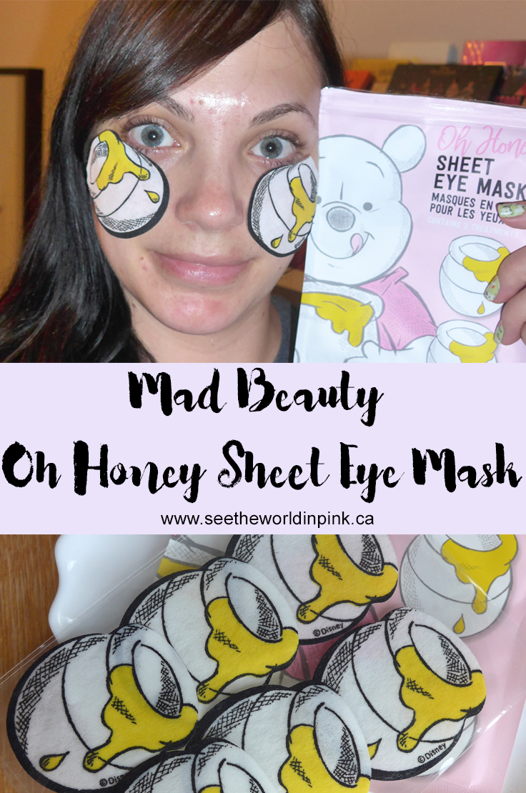 Skincare Sunday - Mad Beauty Disney Oh Honey Sheet Eye Masks