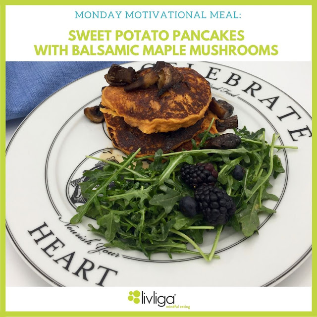 Healthy Sweet Potato Pancakes on Livliga Celebrate Dinner Plate