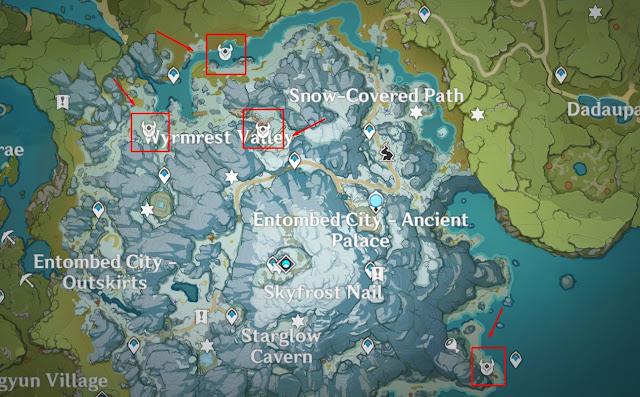 lokasi gigi naga Genshin Impact