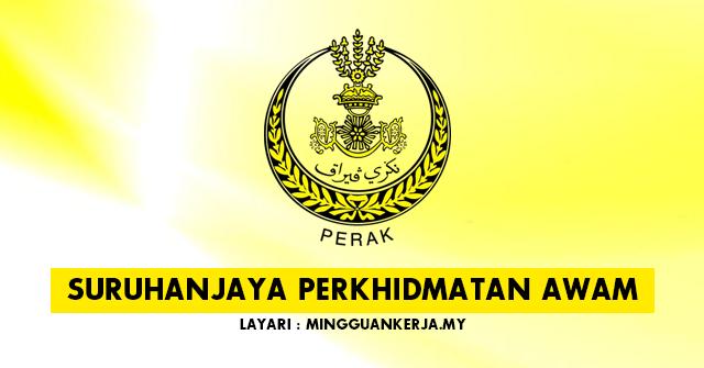 Jawatan Kosong di Suruhanjaya Perkhidmatan Awam Perak ~ Pelbagai Kekosongan Dibuka