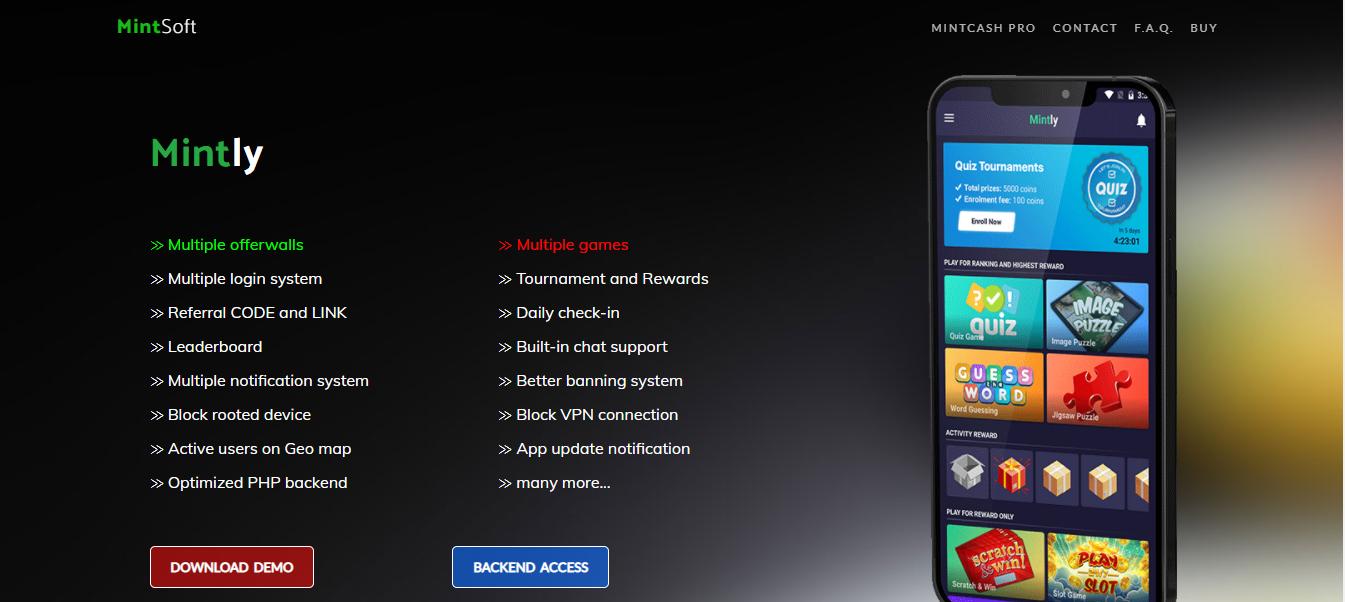 Mintly Advanced Multi Gaming Rewards App
