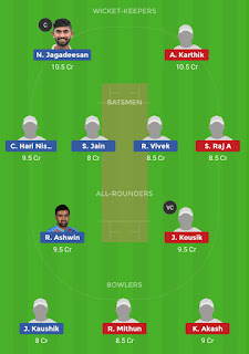Dream11 team for DIN vs MAD Qualifier 2 Match | Fantasy cricket tips | Playing 11 | TNPL dream11 Team | dream11 prediction |