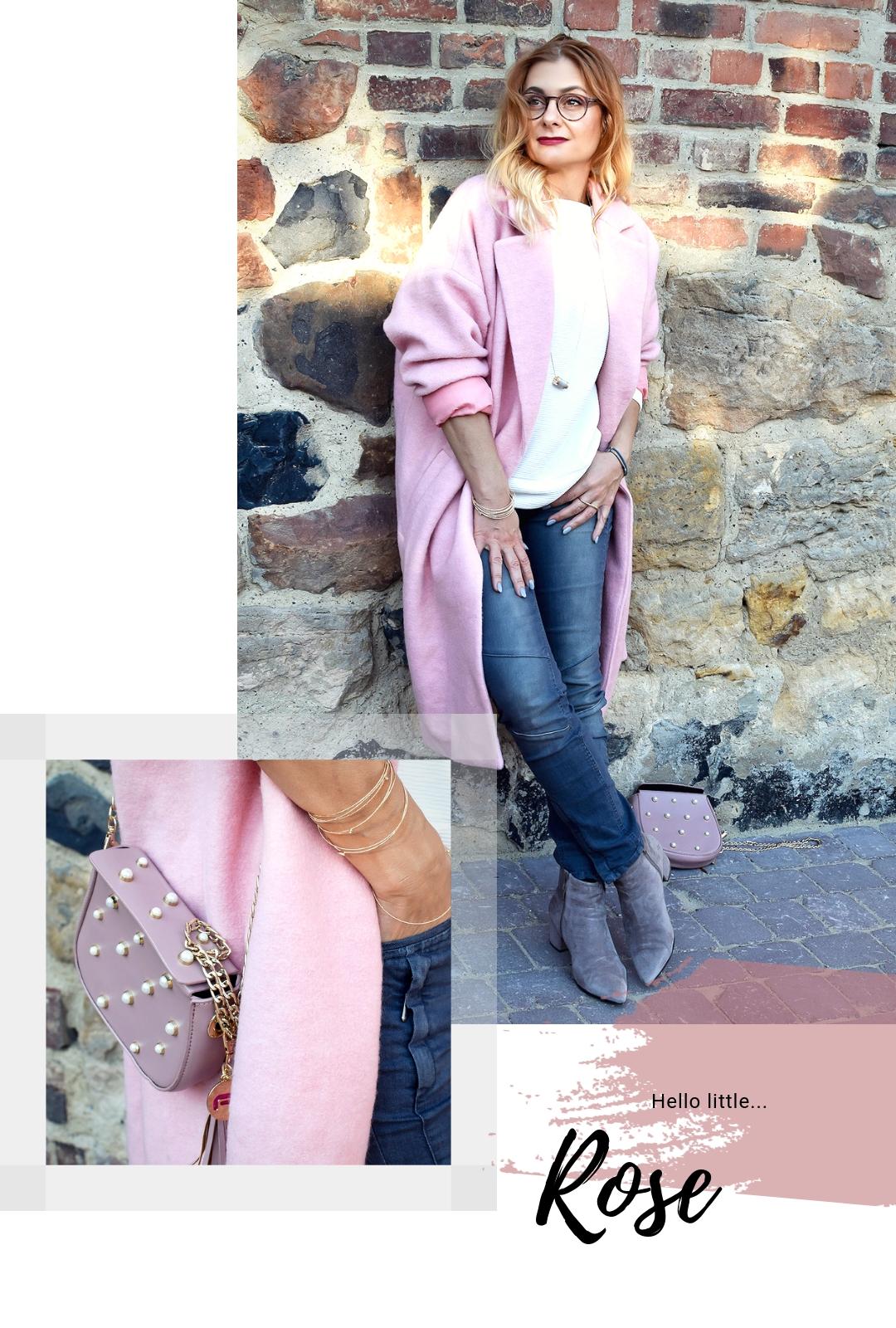 Rosa Mantel zu grauer Jeans, welche Farben passen am besten zu Rosa