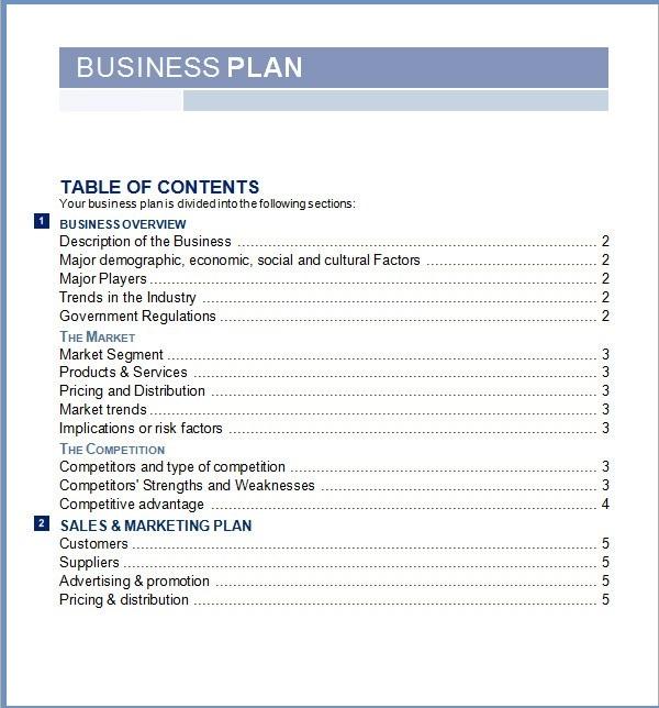 Free Business Plan Template Word 2017 – Business Plan Templates Microsoft