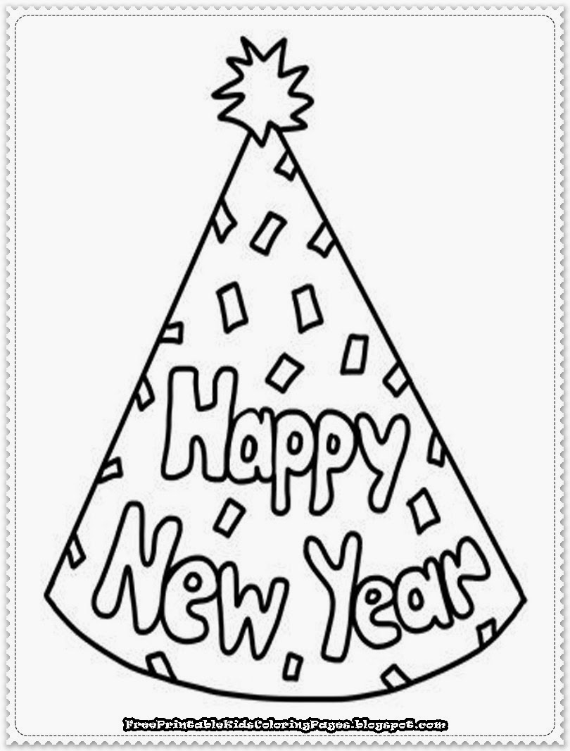 new years coloring pages free - photo#24