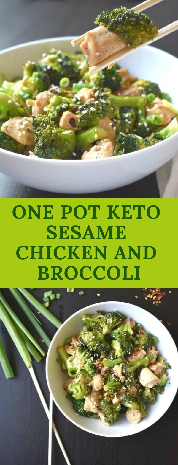 ONE POT KETO SESAME CHICKEN AND BROCCOLI #BROCCOLI #ONEPOT #KETORECIPES