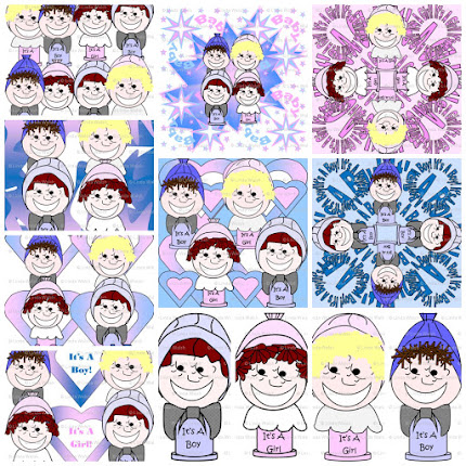 Baby Heads Fabric Designs Collection