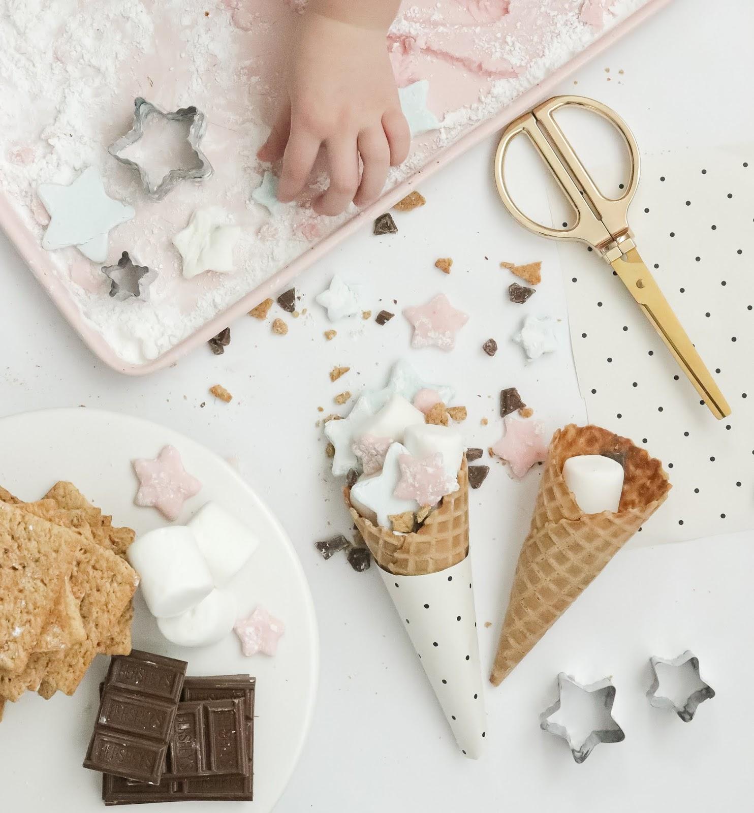 homemade marshmallows 4th of july treat
