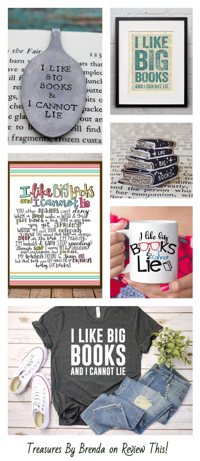I Like Big Books and I Cannot Lie Gift Ideas