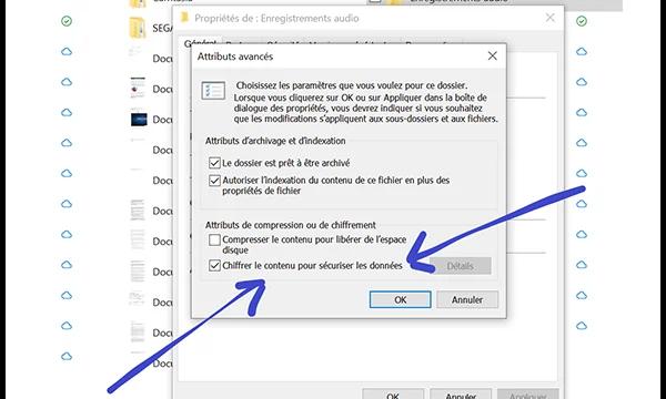 Crypter les fichiers dans Windows 10 via EFS