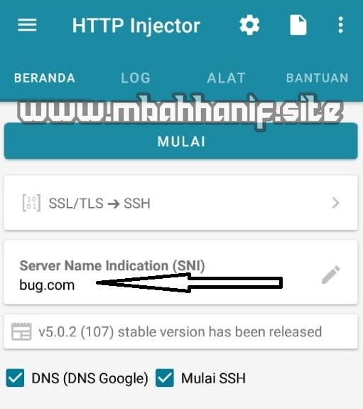 Menggunakan http injector lengkap