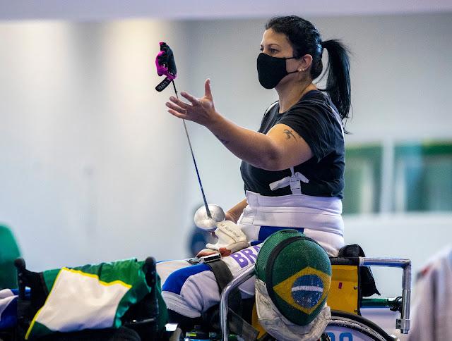 Monica Santos em treino para os Jogos Paralímpicos de Tóquio