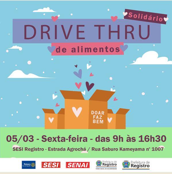 2 Edição do Drive Thru Solidário em Registro-SP