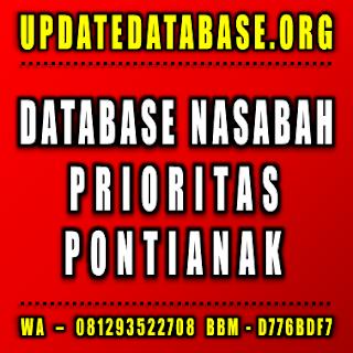 Jual Database Nasabah Prioritas Pontianak