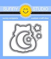 Sunny Studio Stamps Scaredy Cat Metal Cutting Dies Set