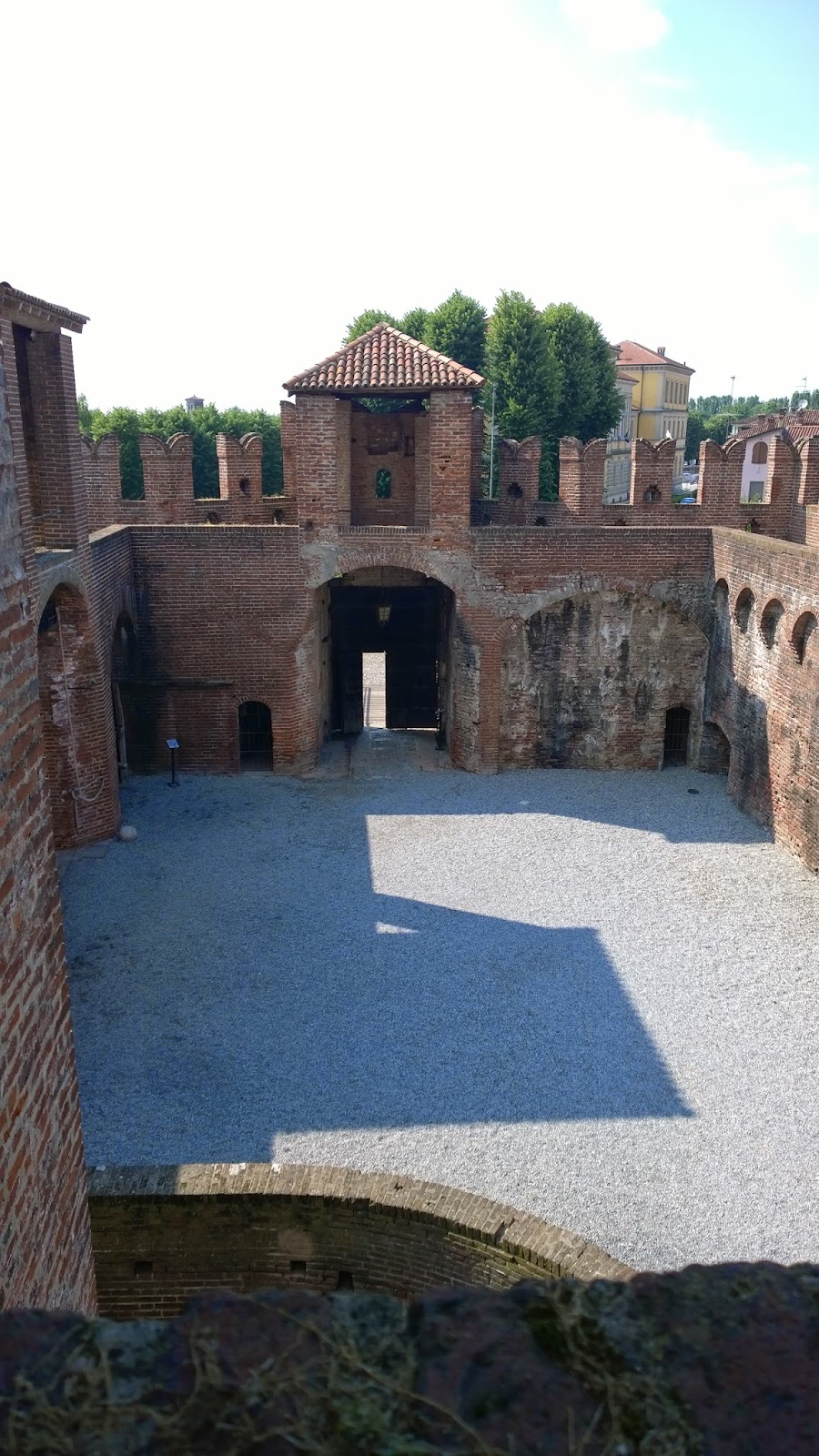 Castle at Soncino, Lombardy, Italy interior