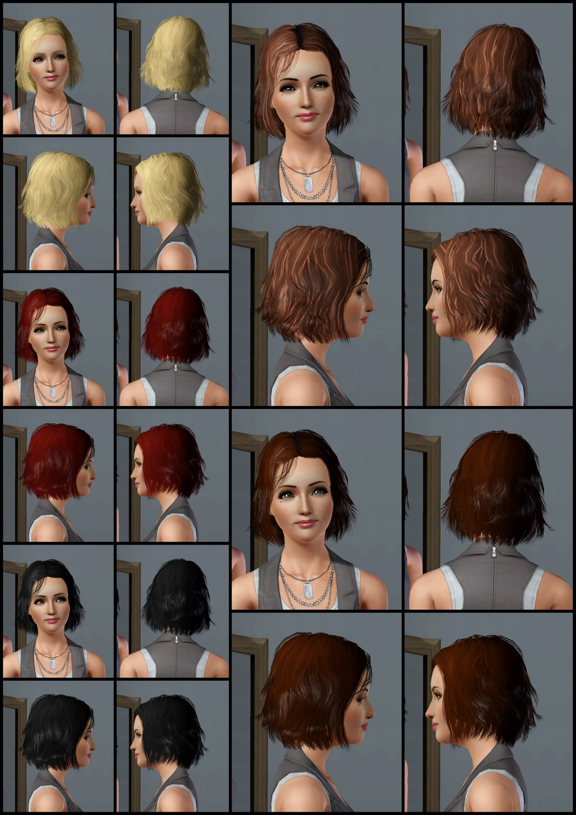 The Sims 3 Store: Hair Showroom: Frizzy Hair