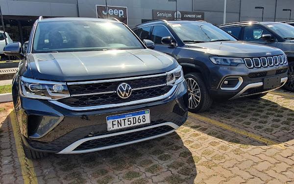 VW Taos x Jeep Compass - vendas