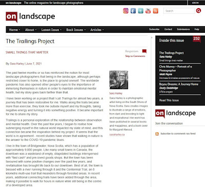 On Landscape Magazine - The Trailings Project by Sara Harley